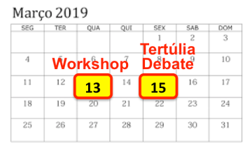 Calendario Março
