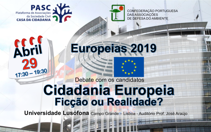 Cartaz Europeias 2019 PASC CPADA