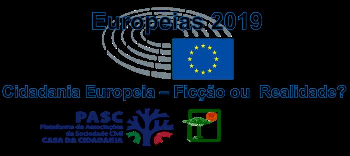 PASC CPADA Europeias 2019 - Cidadania Europeia Ficção ou Realidade Logo cidadania