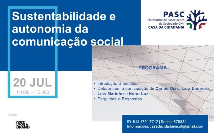 PASC - Cartaz - Comunicação Social - Manhã