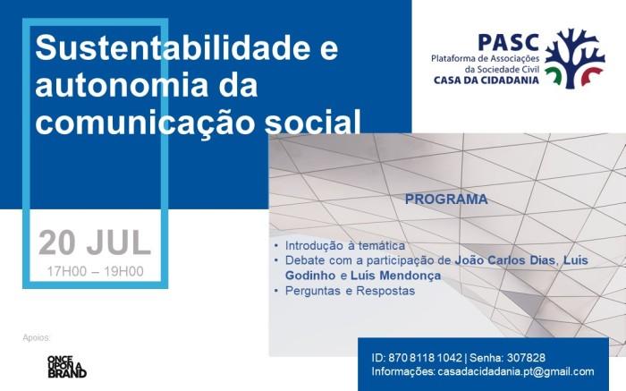 PASC - Cartaz - Comunicação Social - Tarde