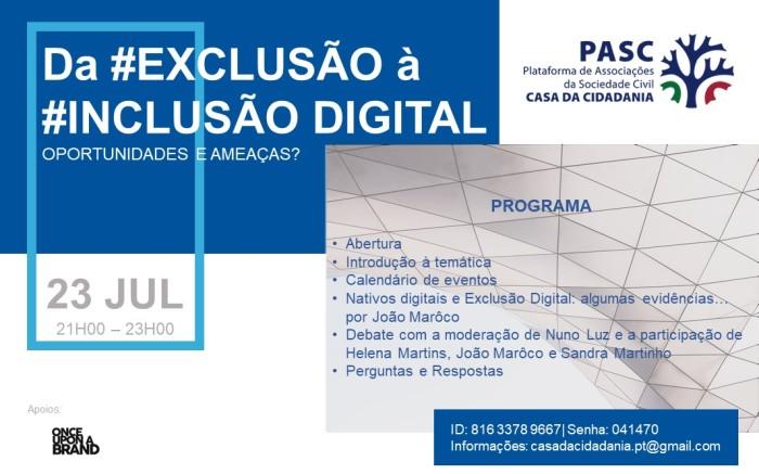 PASC - Cartaz - Exclusão Digital - Sessão nº1
